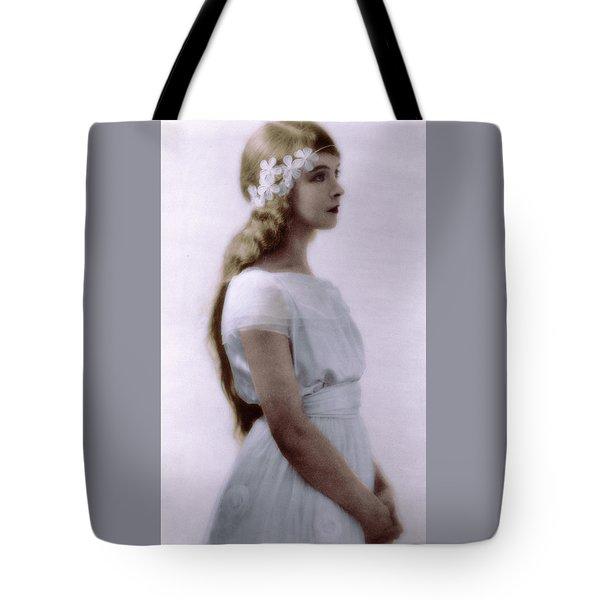 Lillian Gish Colorized Tote Bag