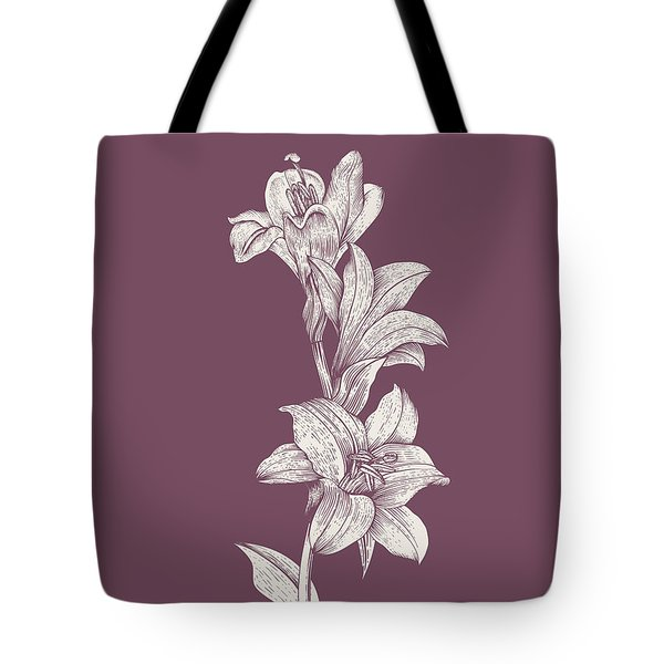 Lily Purple Flower Tote Bag