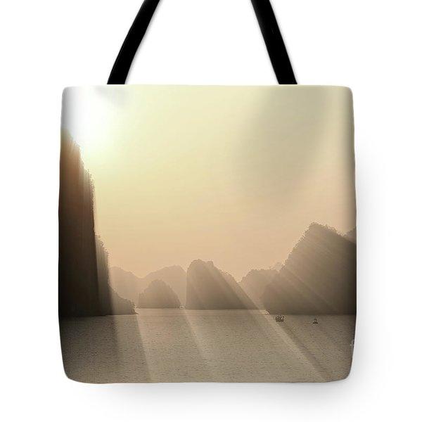 Limestone Sun Rays Ha Long Bay Vietnam Tote Bag