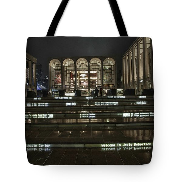 Lincoln Center For The Performing Arts Tote Bag