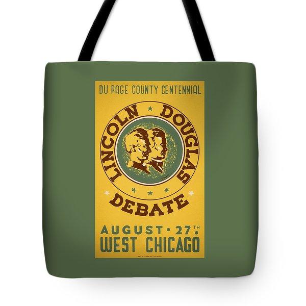 Lincoln Douglas Debate - Wpa - 1939 Tote Bag