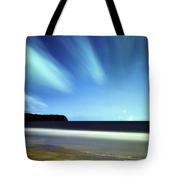Linear Clouds Over Mayaro Tote Bag