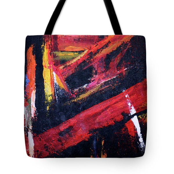 Lines Of Fire Tote Bag