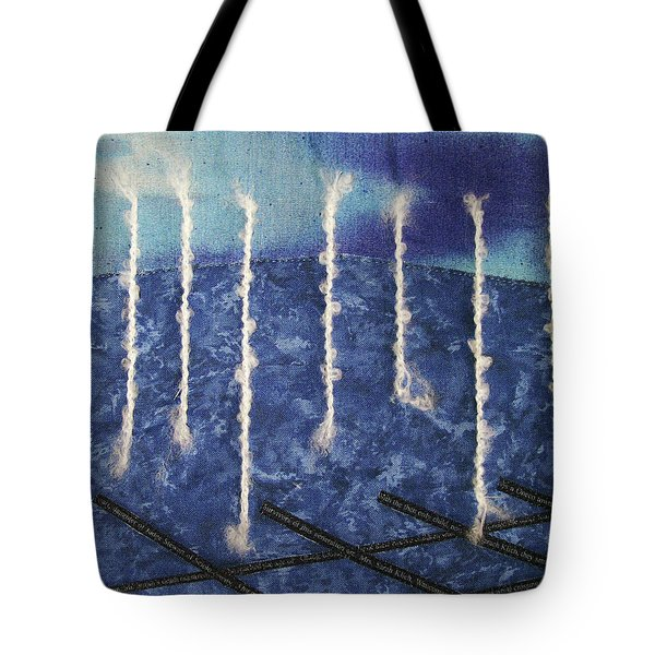 Lines Of Text Tote Bag