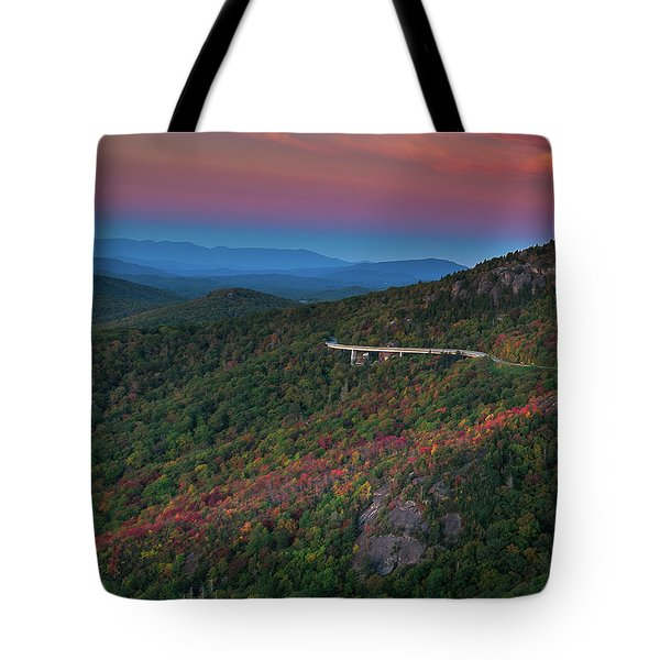 Linn Cove Pink And Blue Tote Bag