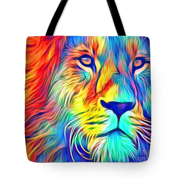Tote Bag featuring the mixed media Lion Of Judah by Jessica Eli