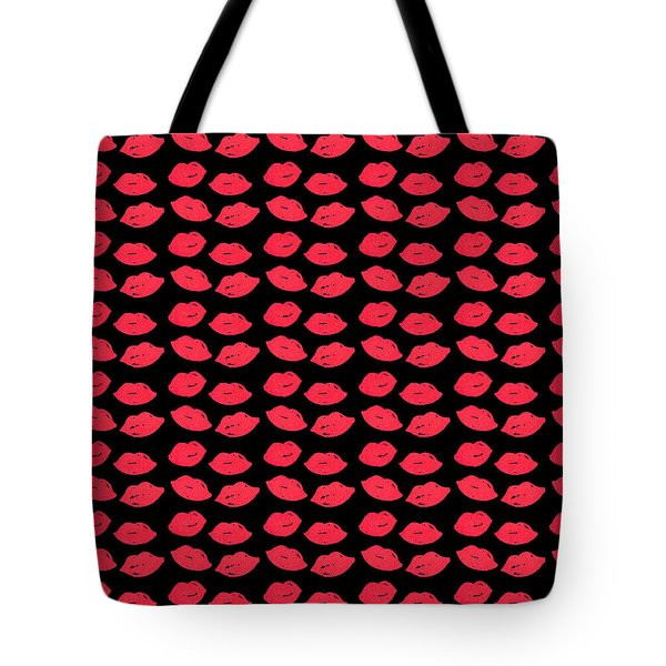 Tote Bag featuring the digital art Lips by Bee-Bee Deigner