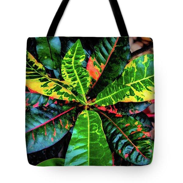 Liquid Tropical Colors Tote Bag