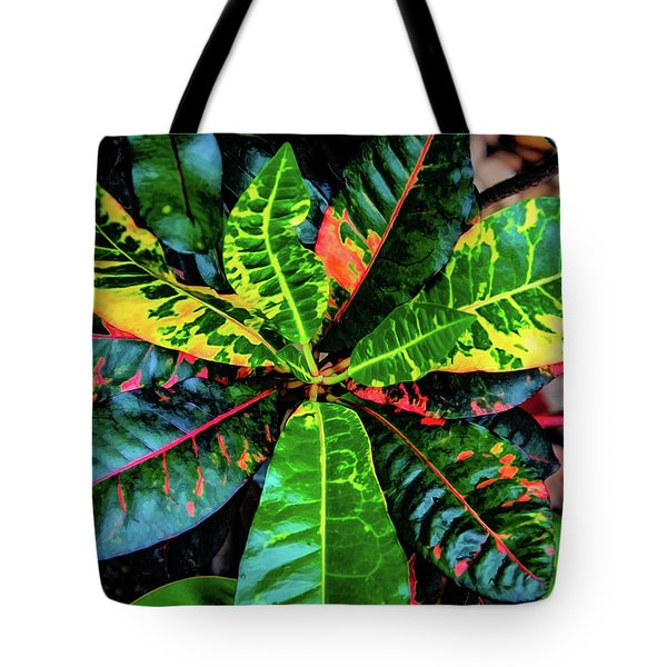 Liquid Tropical Colors Tote Bag