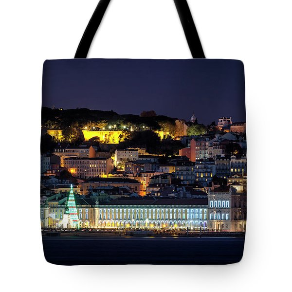 Lisbon In Christmas Time Tote Bag