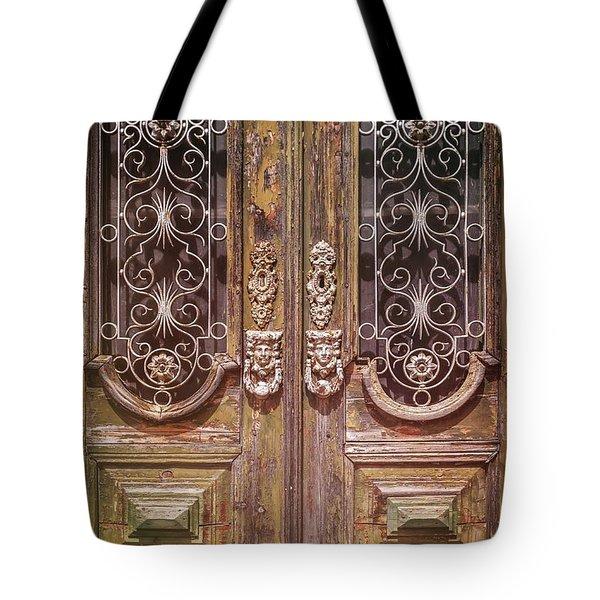 Lisbon Old Door Detail Tote Bag