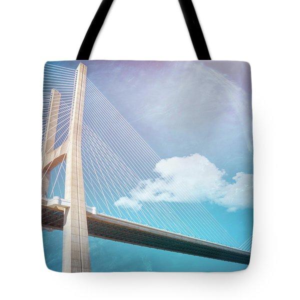 Lisbon Portugal Vasco Da Gama Bridge Tote Bag