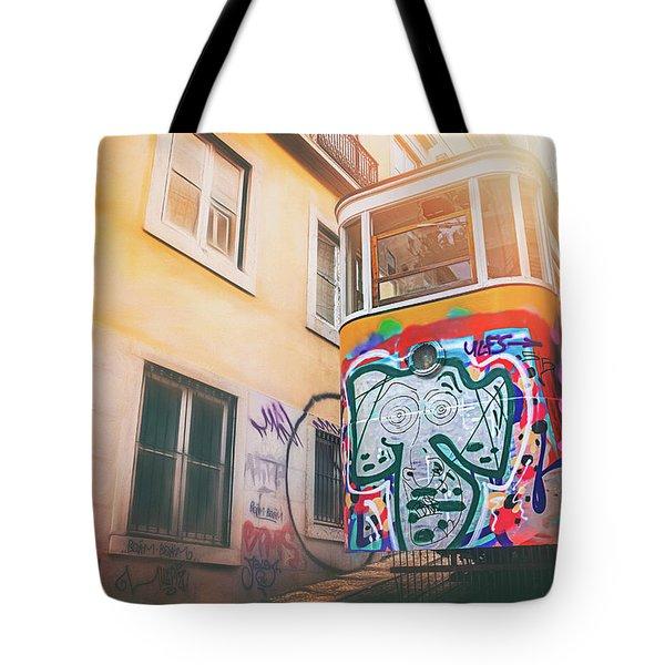 Lisbon's Lively Transport Tote Bag
