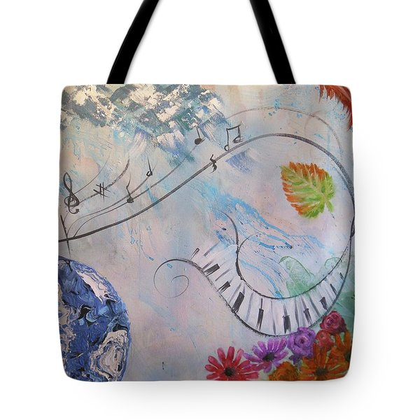 Listen To The Earth Song Tote Bag