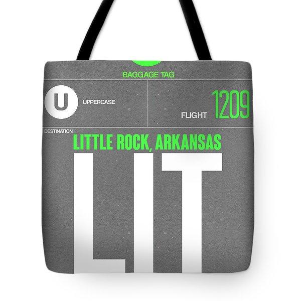 Lit Little Rock Luggage Tag II Tote Bag