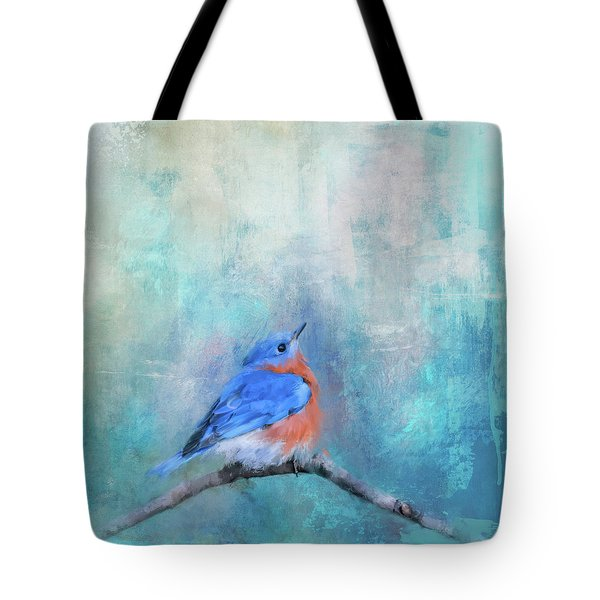 Tote Bag featuring the painting Little Boy Blue by Jai Johnson