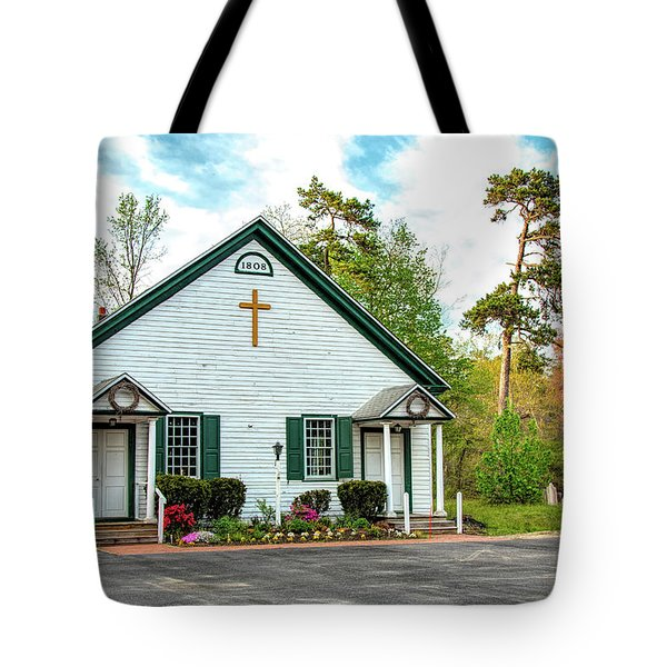 Tote Bag featuring the photograph Little Church In The Pines by Kristia Adams