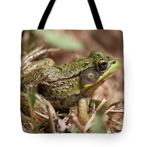 Little Green Frog Tote Bag