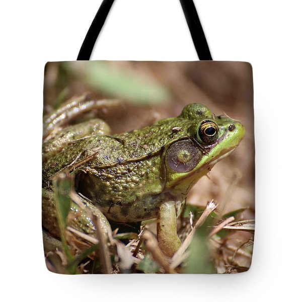Little Green Frog Tote Bag