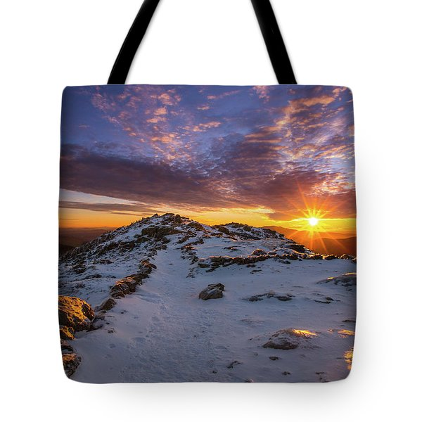 Little Haystack Sunburst Tote Bag