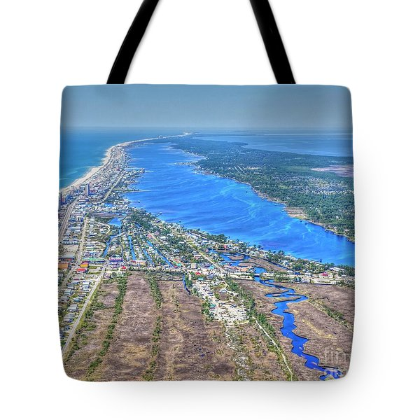 Tote Bag featuring the photograph Little Lagoon 7489 by Gulf Coast Aerials -