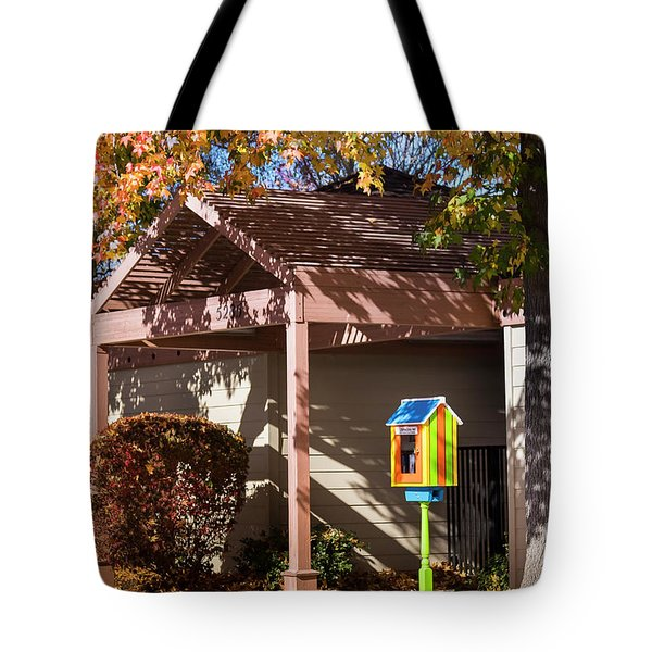 Tote Bag featuring the photograph Little Library 2 by Mark Mille