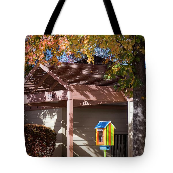 Tote Bag featuring the photograph Little Library by Mark Mille