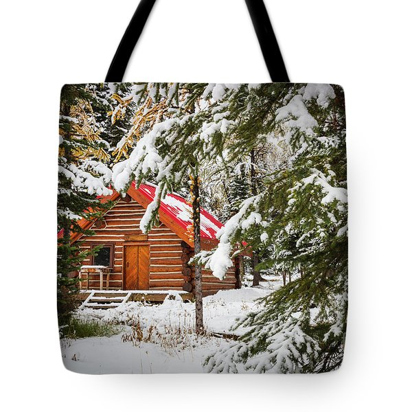Little Red Riding Hood Cabin Tote Bag