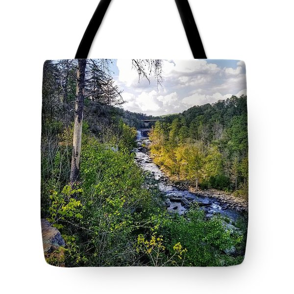 Tote Bag featuring the photograph Little River Canyon Alabama by Rachel Hannah