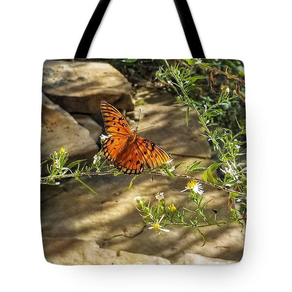 Tote Bag featuring the photograph Little River Canyon Butterfly  by Rachel Hannah