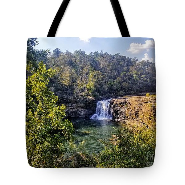 Tote Bag featuring the photograph Little River Canyon Falls Alabama by Rachel Hannah