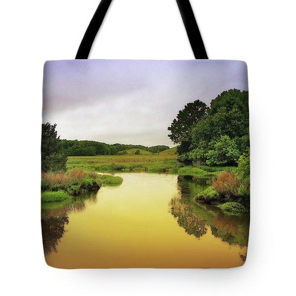 Little River Twilight Tote Bag