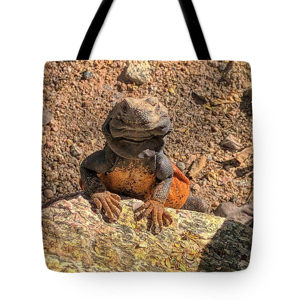 Lizard Portrait  Tote Bag