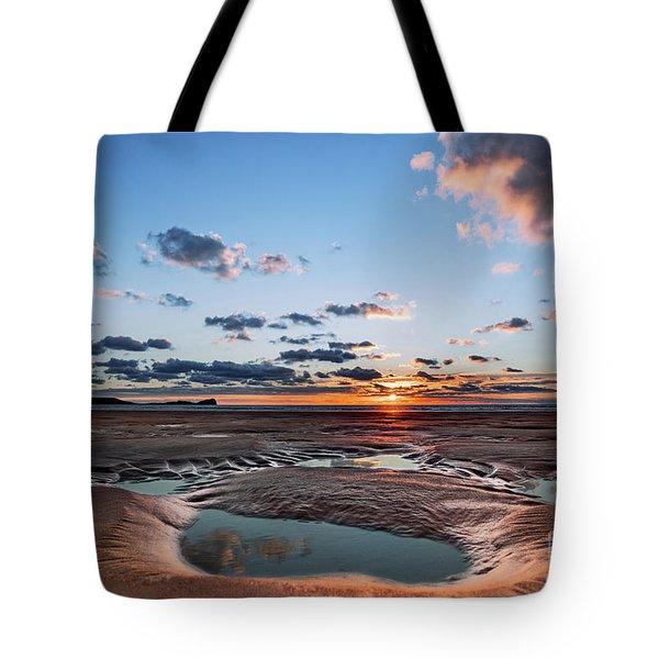 Llangennith Beach Tote Bag