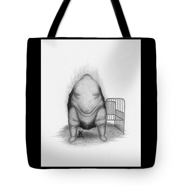 Tote Bag featuring the drawing Loaded - Artwork  by Ryan Nieves