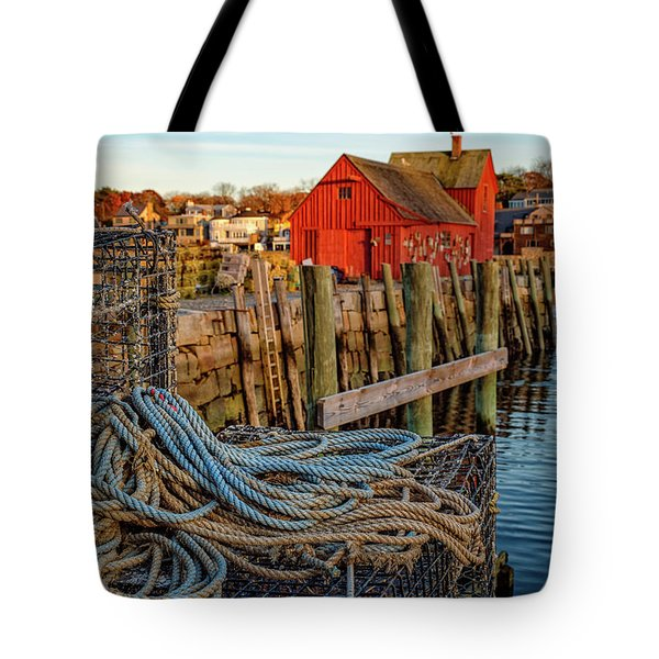 Lobster Traps And Line At Motif #1 Tote Bag