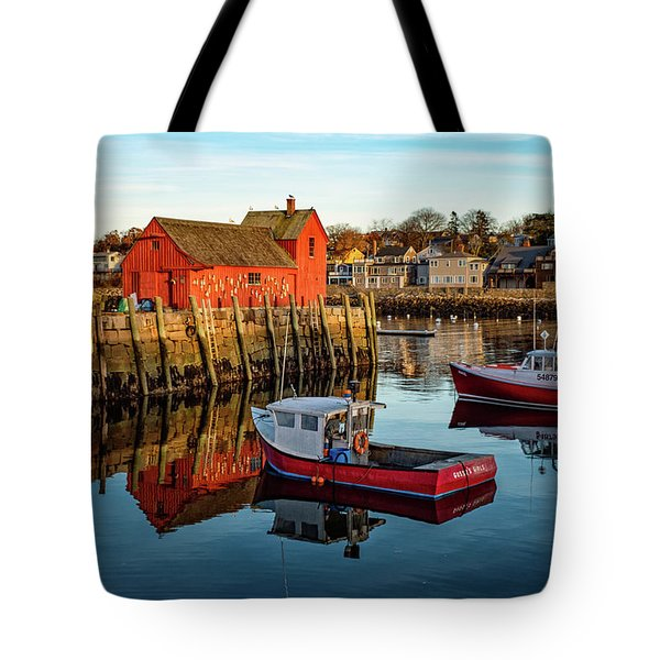 Lobster Traps, Lobster Boats, And Motif #1 Tote Bag