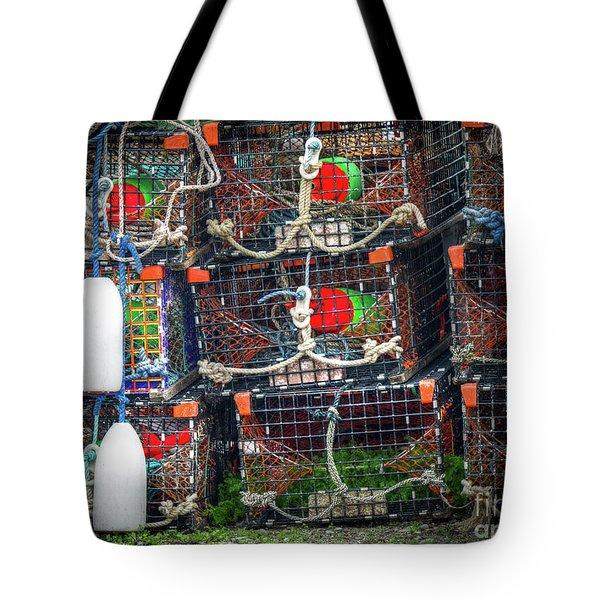 Lobster Traps Tote Bag