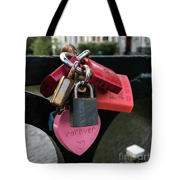 Lock Up Your Love Tote Bag
