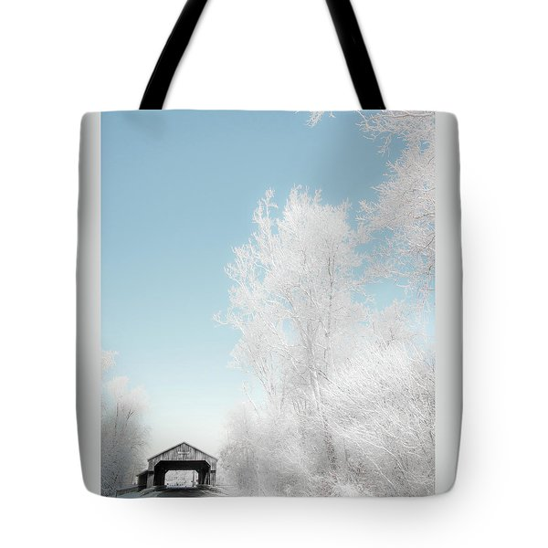 Tote Bag featuring the photograph Lockport Covered Bridge 2 by Michael Arend
