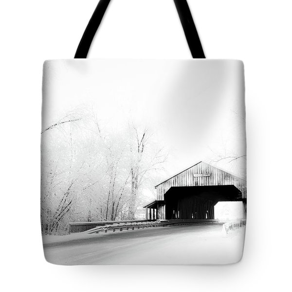 Tote Bag featuring the photograph Lockport Covered Bridge by Michael Arend