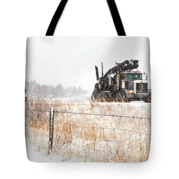 Logging Truck Tote Bag