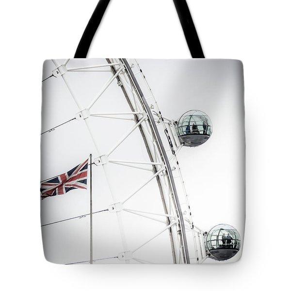London Eye And Union Jack Tote Bag