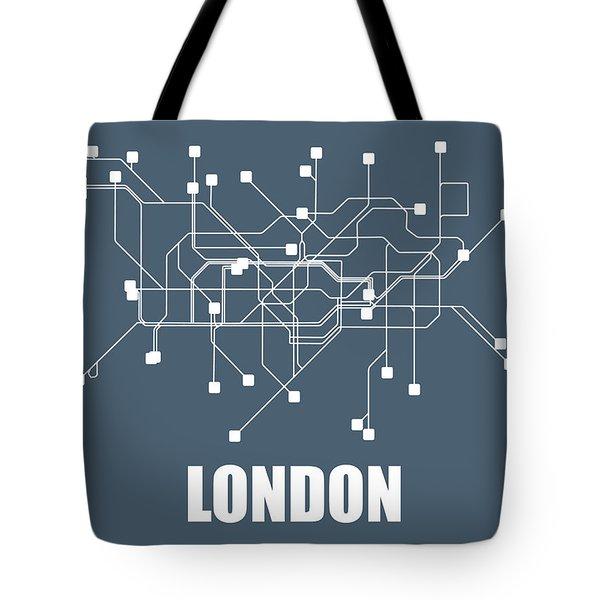 London Subway Map Tote Bag