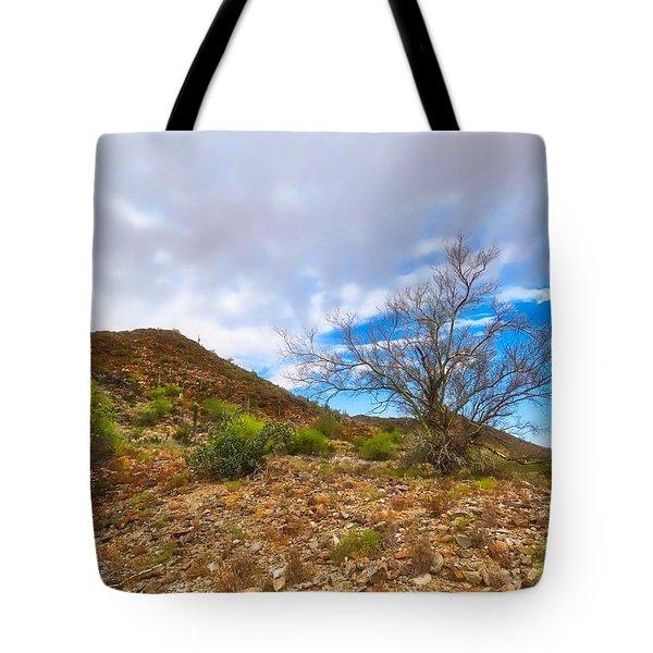 Lone Palo Verde Tote Bag