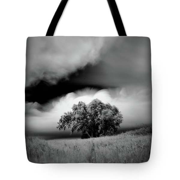 Lone Tree On A Hill Tote Bag