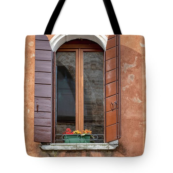 Tote Bag featuring the photograph Lone Window Of Venice by David Letts