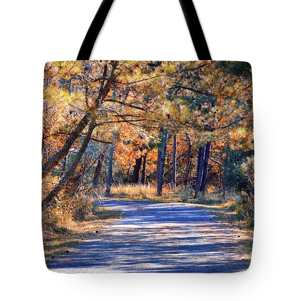 Tote Bag featuring the photograph Long And Winding Road At Gordon's Pond by Bill Swartwout Fine Art Photography