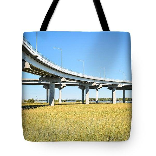 Long Concrete Bridge  Tote Bag
