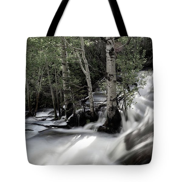 Long Exposure Shot Of A Mountain Stream Tote Bag